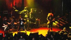 Napalm Death in concert