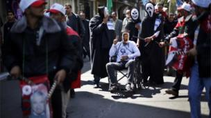 Palestinian protest in Gaza City, 20 March 2013