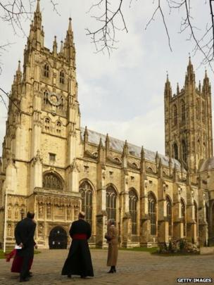General view of Canterbury Cathedral