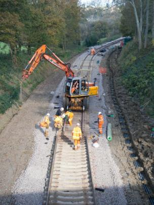 Work to extend the Bluebell Railway