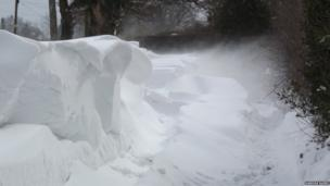 Picture of a snow drift in Staffordshire
