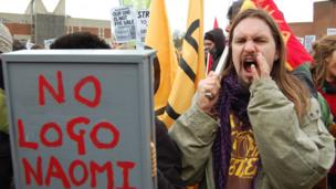 Protester at University of Sussex demonstration