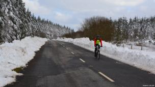 Cyclist at Ballypatrick forest