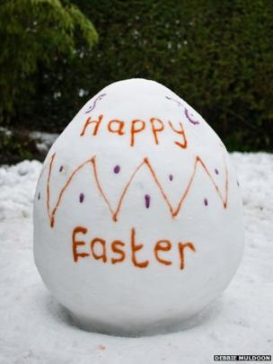 Snow Easter egg