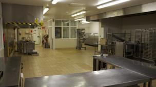 Prison kitchen at HMP Shrewsbury