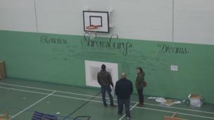 Wall of memories from former prison officers at HMP Shrewsbury