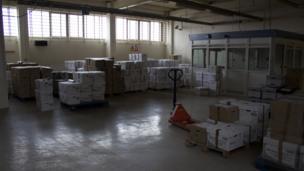 Boxes of prisoner files at HMP Shrewsbury