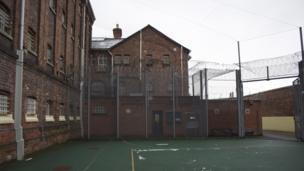 Exercise yard at HMP Shrewsbury