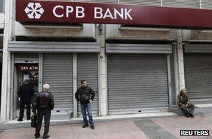 Shuttered bank in Cyprus