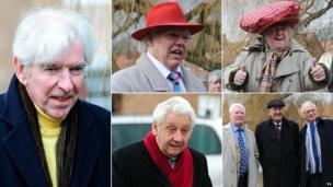 "Tom O'Connor, Roy ""Chubby"" Brown, Tony Barton, Roy Walker, Russ Abbot, Roy Hudd, Freddie ""Parrot Face"" Davies"
