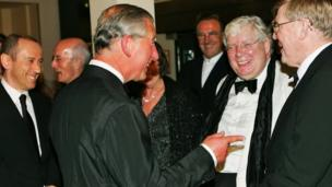 Richard Griffiths with Prince Charles