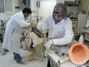 A workshop in Amman constructs artificial limbs