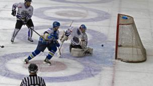 Fife Flyers ice hockey players