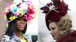 Women in hats at Aintree
