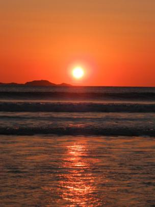A sunset over Whitesands Bay, Pembrokeshire