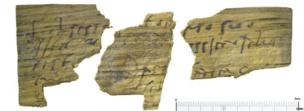 Fragments of Roman writing tablets