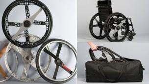 The Morph Folding Wheel by Vitamins for Maddak Inc