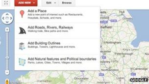 Google Map Maker edit tools extended to cover the UK - BBC News on bing maps tools, google machine tools, software tools, weather tools, google earth tools, google mapping tools, google charts tools, ebay tools,