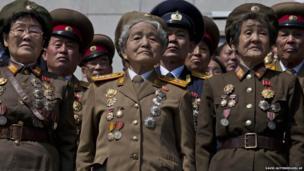 Retired North Korean military members