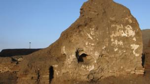 Ancient brickwork in Ghazni