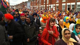 Thousands take part in Derby's celebrations for Sikh festival Vaisakhi