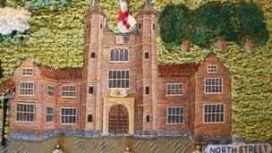 Stitched section showing Abbots Hospital, Guildford