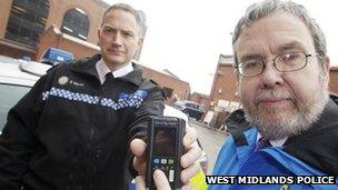 Ch Insp Darren Walsh and West Midlands Police and Crime Commissioner Bob Jones