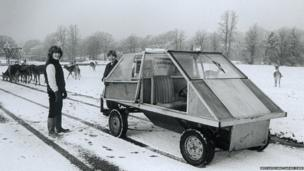 Early transport at West Midland Safari Park