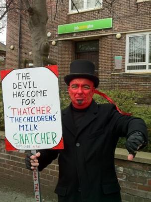 A man dressed as a devil