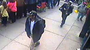 Suspects in the Boston Marathon bombing caught on CCTV
