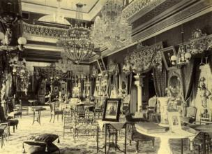 The drawing room of the Bashirbagh Palace, 1888