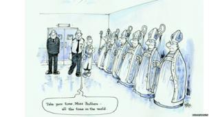 Bishops cartoon by Rupert Besley