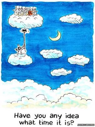 Heaven cartoon by John Landers