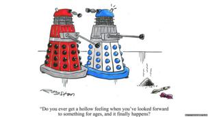 Daleks cartoon by Royston Robertson