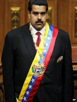 President Nicolas Maduro inaugurated