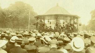 The bandstand at Abington Park.