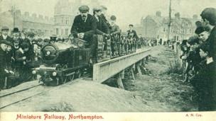 The miniature railway at Abington Park