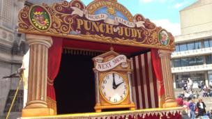 Punch and Judy show set
