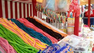 Sweets on sale on a stand