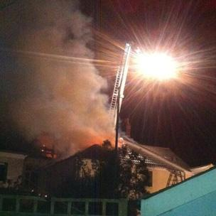 The fire started in the early hours of Sunday