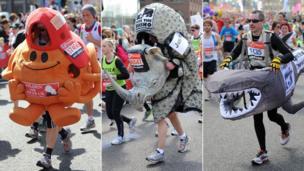 Three fun runners