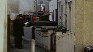 1984 police at scene of Peter Miller's flat