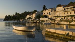 Croatia's range of islands have become a popular tourist destination. This is the village of Racisce, on Korcula, one of the larger islands just off the Dalmatian coast.