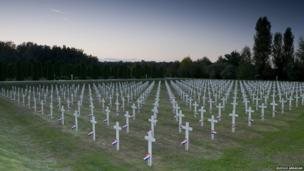 This war cemetery, commemorates those killed in one of the most notorious incidents of the war of independence. More than 260 people were taken from Vukovar hospital after it fell to Serb forces and killed on the site of a farm in Ovcara, just outside the city.