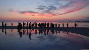 sunset at The Sun Salutation in Zadar