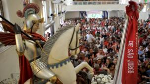 A service for St. George in Rio de Janeiro