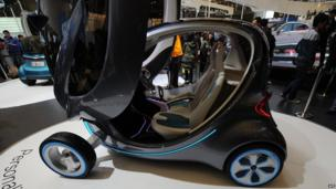 Electric concept car from the Chinese auto maker Chery