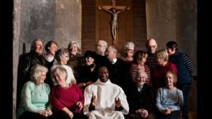 Holy Cross Church members