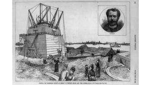 An illustration of the Statue of Liberty's pedestal