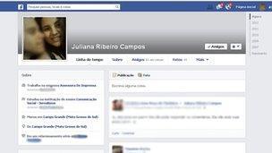 Facebook memorial page for Juliana Ribeiro Campos